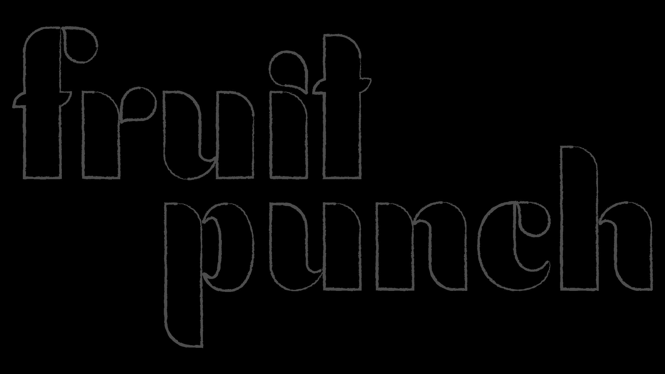 fruit punch logo hand drawn